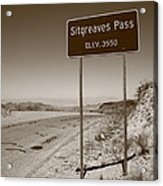 Route 66 - Sitgreaves Pass Acrylic Print