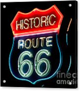 Route 66 Acrylic Print by Theodore Clutter