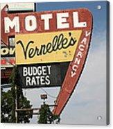Route 66 - Vernelle's Motel Acrylic Print