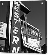 Route 66 - Western Motel 7 Acrylic Print