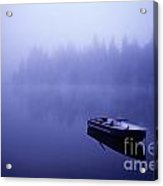 Row Boat On Lake Mason Acrylic Print