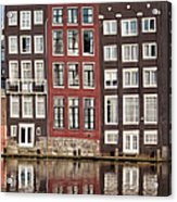 Row Houses In Amsterdam Acrylic Print