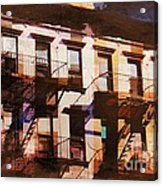 Row Houses - Old Buildings And Architecture Of New York City Acrylic Print