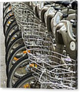 Row Of Bicycles Acrylic Print