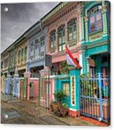 Row Of Historic Colorful Peranakan House Acrylic Print