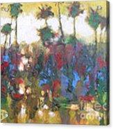 Row Of Palms Acrylic Print