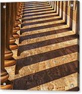 Row Of Pillars Acrylic Print by Garry Gay