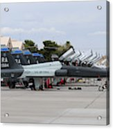 Row Of T-38c Trainer Jets At Nellis Air Acrylic Print