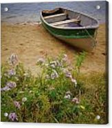 Rowboat And Asters Acrylic Print