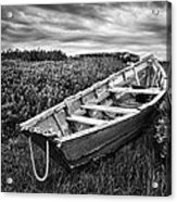 Rowboat At Prospect Point - Black And White Acrylic Print