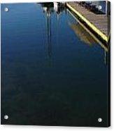 Rowboat On Navy Blue Acrylic Print