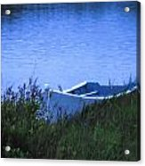 Rowboat In Grass Acrylic Print
