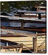 Rowboats At A Lake Acrylic Print