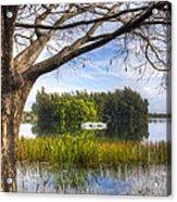 Rowboats At The Lake Acrylic Print