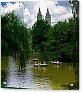 Rowboats Central Park New York Acrylic Print