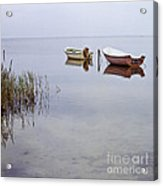 Rowboats On Nonnensee Acrylic Print