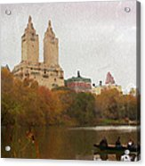 Rowers In Central Park Acrylic Print