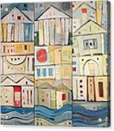 Rowhouses Triptych Acrylic Print