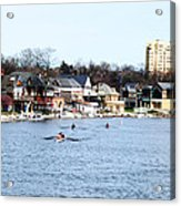 Rowing At Boathouse Row Acrylic Print