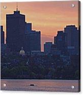 Rowing Boston Acrylic Print
