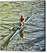 Rowing Crew Acrylic Print by Bill Cannon