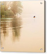 Rowing In The Mist Acrylic Print