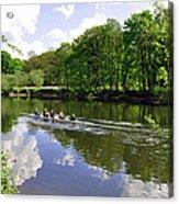 Rowing Practice - Near Branston Acrylic Print