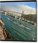 Rowing To The Golden Gate Bridge Acrylic Print