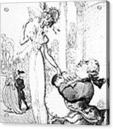 Rowlandson: Cartoon, 1810 Acrylic Print