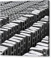 Rows Of Concrete Bricks Drying Acrylic Print