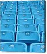 Rows Of Emtpy Seats Acrylic Print