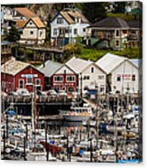 Rows Of Houses And Sails Acrylic Print