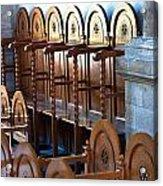 Rows Of Prayers Chairs Acrylic Print