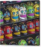 Rows Of Skulls Acrylic Print by Garry Gay