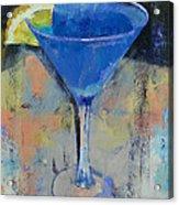 Royal Blue Martini Acrylic Print