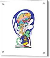 Royal Blue With Duck Acrylic Print