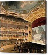Royal Circus From Ackermanns Repository Acrylic Print by T. & Pugin, A.C. Rowlandson