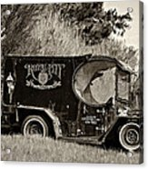 Royal City Paddy Wagon Sepia Acrylic Print