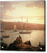 Royal Naval Vessels Off Pembroke Dock Hilford Haven Acrylic Print