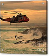 Royal Navy Rescue  Acrylic Print