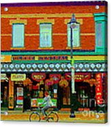 Royal Oaks British Pub Hillarys And Pc Perfect Glebe Central Paintings Of Ottawa Scenes C Spandau Acrylic Print