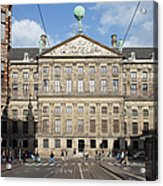Royal Palace From Raadhuisstraat Street In Amsterdam Acrylic Print