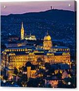 Royal Palace Of Buda In Budapest Acrylic Print