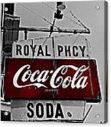 Royal Pharmacy Soda Acrylic Print by Andy Crawford