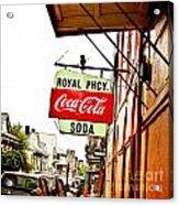 Royal Pharmacy Soda Sign Acrylic Print