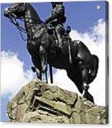 Royal Scots Greys Monument In Edinburgh Acrylic Print