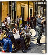 Royal Street Jazz Musicians Acrylic Print