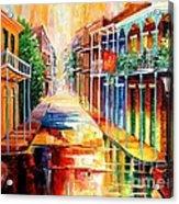 Royal Street Reflections Acrylic Print by Diane Millsap