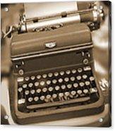 Royal Typewriter Acrylic Print