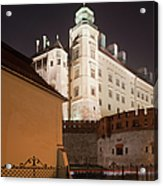 Royal Wawel Castle By Night In Krakow Acrylic Print